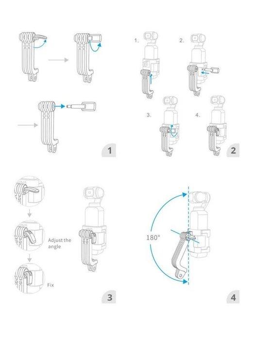 Uchwyt typu L PGYTECH do DJI Osmo Pocket i kamer sportowych